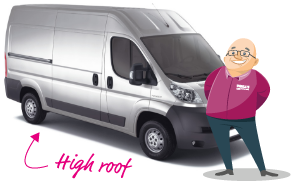 Paull standing next to high roof van