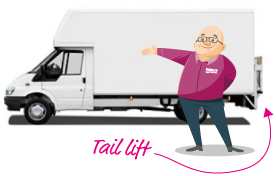 Paull next to tail lift van